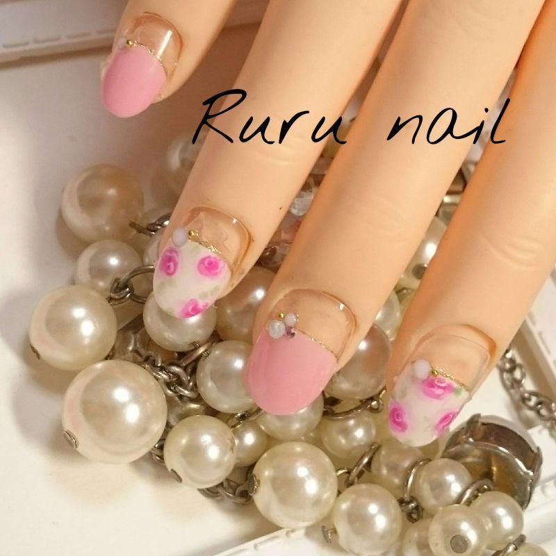 画像1: ピンクとローズのかわいいネイルチップ(180)