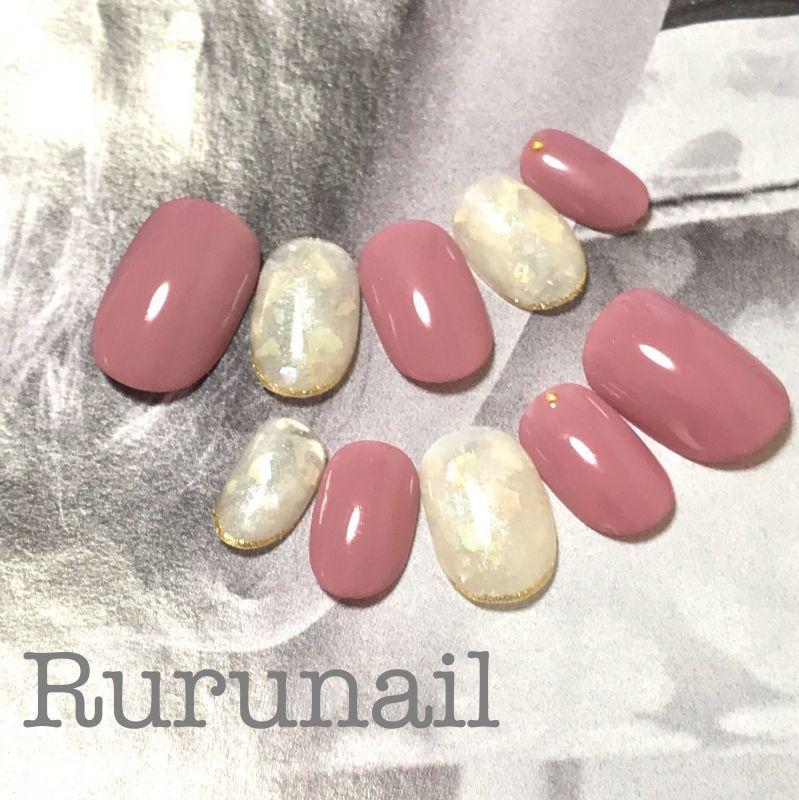 画像3: 艶ピンクとシェル埋め込みシンプル美爪ネイルチップ(366)