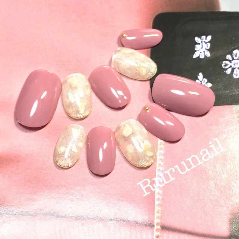 画像2: 艶ピンクとシェル埋め込みシンプル美爪ネイルチップ(366)