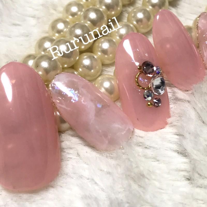画像3: 美爪ピンクベージュの天然石ネイルチップ(047