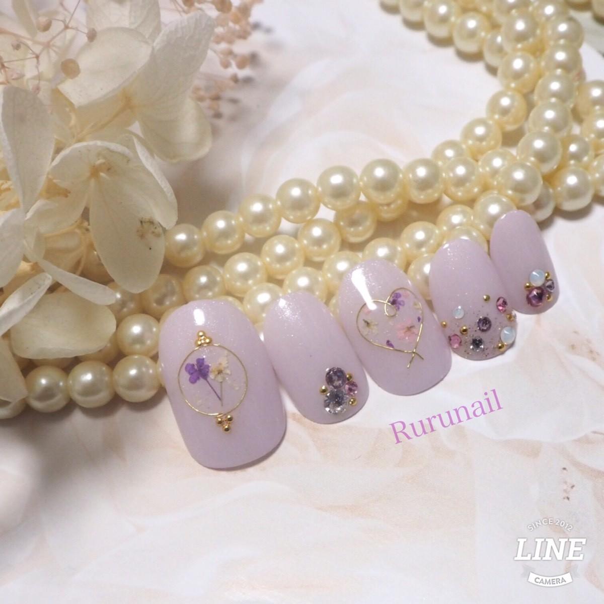 画像3: プリンセスの押し花ブライダルネイルチップ(076