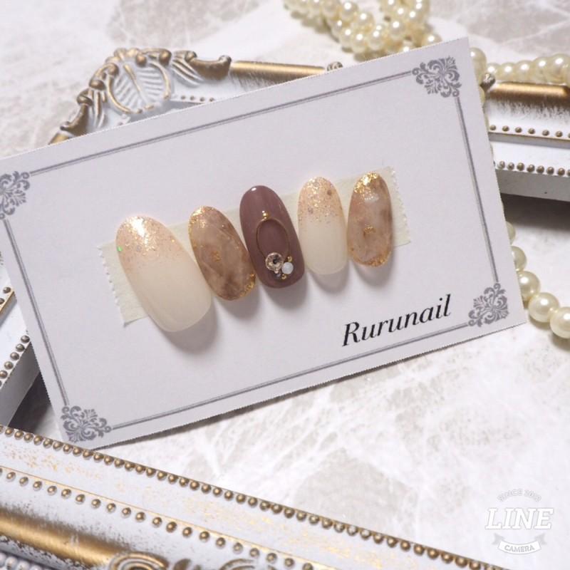 画像1: 天然石とトレンド宝石の美爪ネイルチップ(079