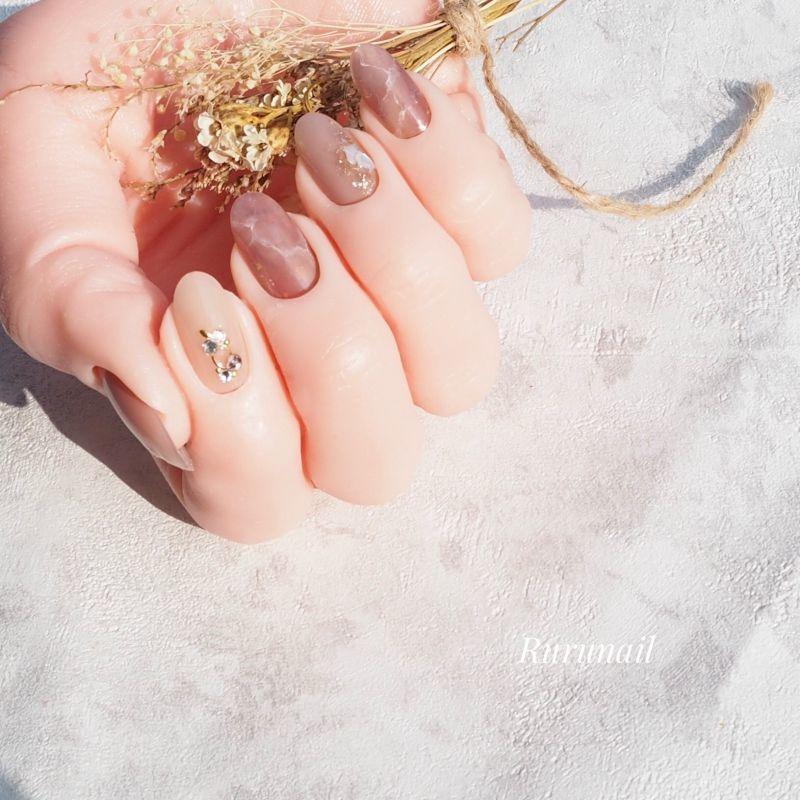 画像4: なじむふんわりニュアンスのミラー美爪ネイルチップ(489