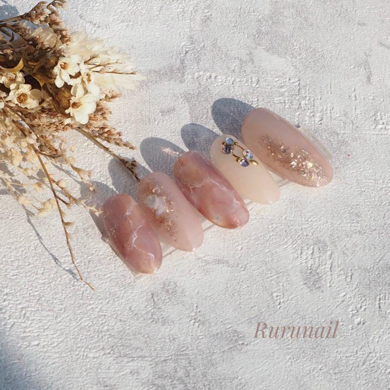 画像2: なじむふんわりニュアンスのミラー美爪ネイルチップ(489